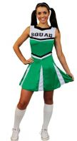 Green Cheerleader Costume (ILFD4058)